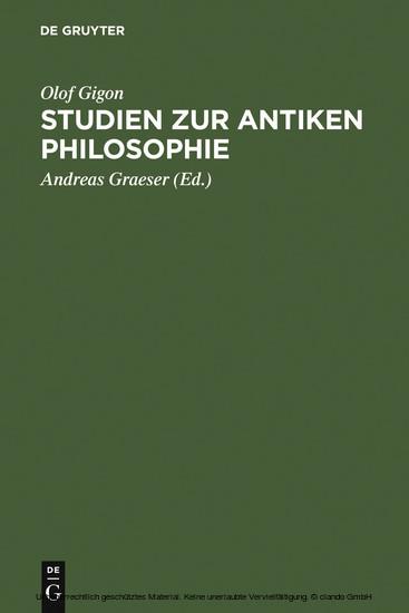 Studien zur antiken Philosophie - Blick ins Buch