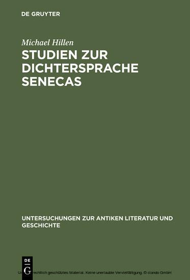 Studien zur Dichtersprache Senecas - Blick ins Buch