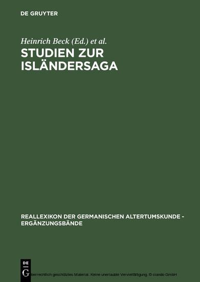 Studien zur Isländersaga - Blick ins Buch