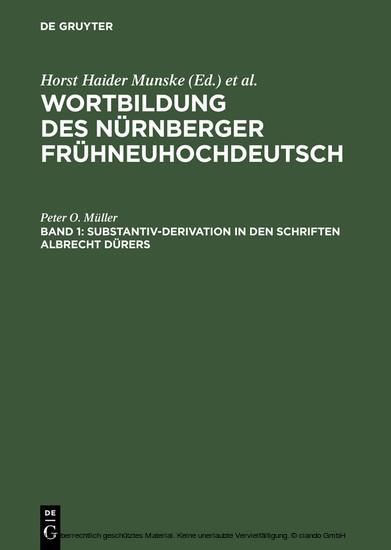 Substantiv-Derivation in den Schriften Albrecht Dürers - Blick ins Buch