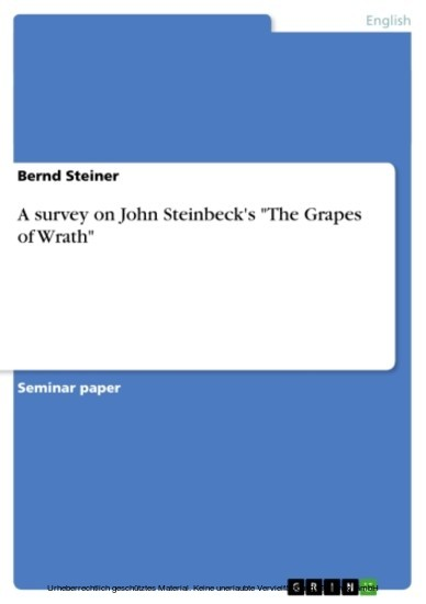 An analysis of the characters in the novel the grapes of wrath by john steinbeck