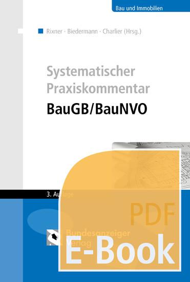 Systematischer Praxiskommentar BauGB/BauNVO (E-Book) - Blick ins Buch