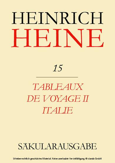 Tableaux de voyage II. Italie - Blick ins Buch