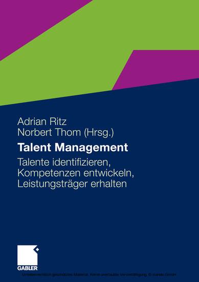 Talent Management - Blick ins Buch