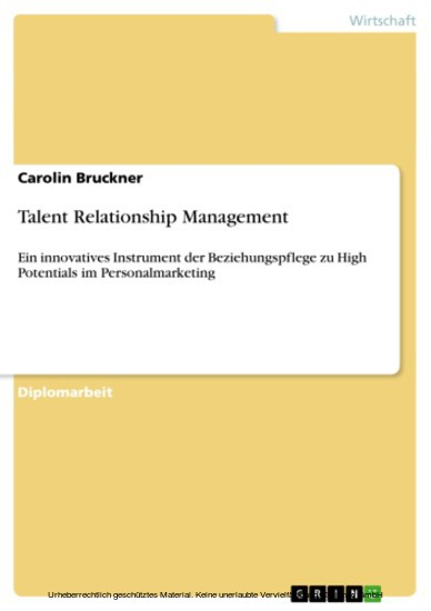 Talent Relationship Management - Blick ins Buch