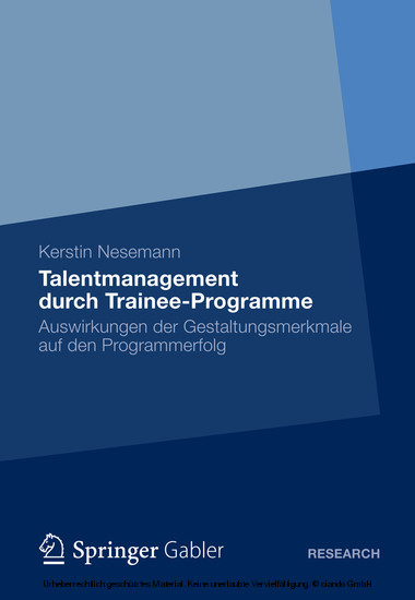 Talentmanagement durch Trainee-Programme - Blick ins Buch