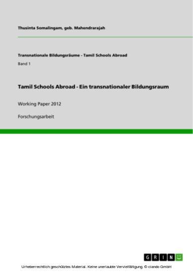 Tamil Schools Abroad - Ein transnationaler Bildungsraum - Blick ins Buch