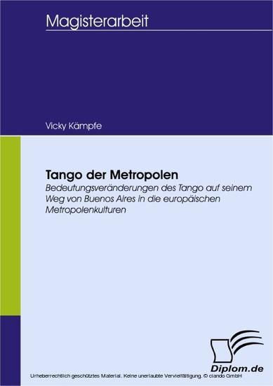 Tango der Metropolen - Blick ins Buch