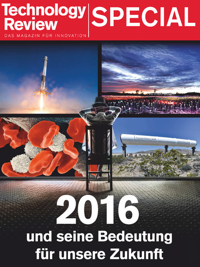 Technology Review Special 2016 - Blick ins Buch