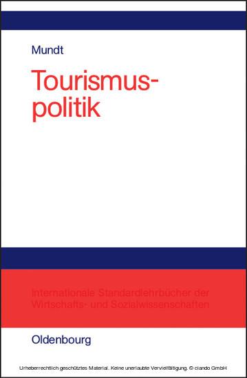 Tourismuspolitik - Blick ins Buch