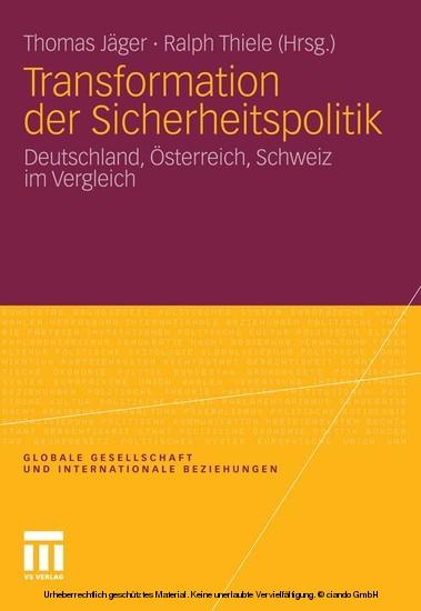 Transformation der Sicherheitspolitik - Blick ins Buch