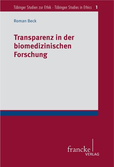 Transparenz in der biomedizinischen Forschung - Blick ins Buch