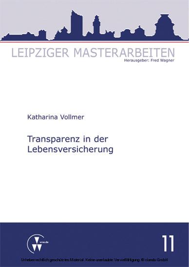 Transparenz in der Lebensversicherung - Blick ins Buch
