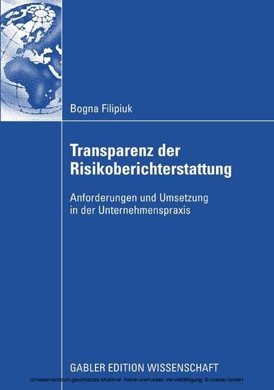 Transparenz der Risikoberichterstattung - Blick ins Buch