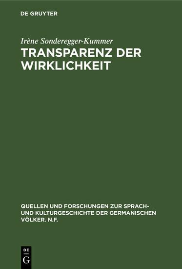 Transparenz der Wirklichkeit - Blick ins Buch