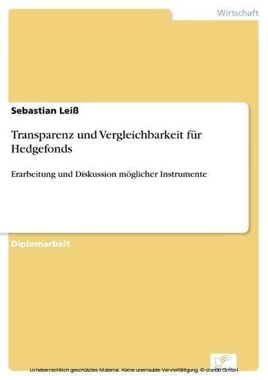 Transparenz und Vergleichbarkeit für Hedgefonds - Blick ins Buch
