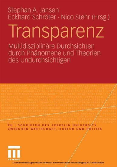 Transparenz - Blick ins Buch