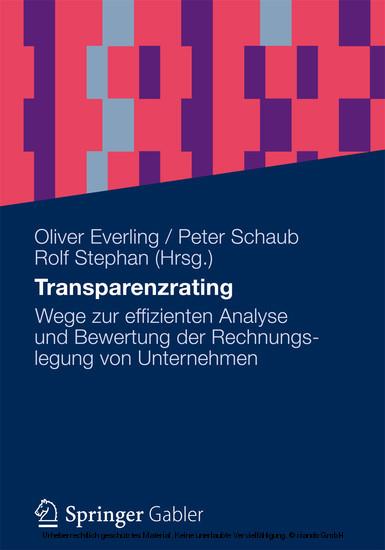 Transparenzrating - Blick ins Buch