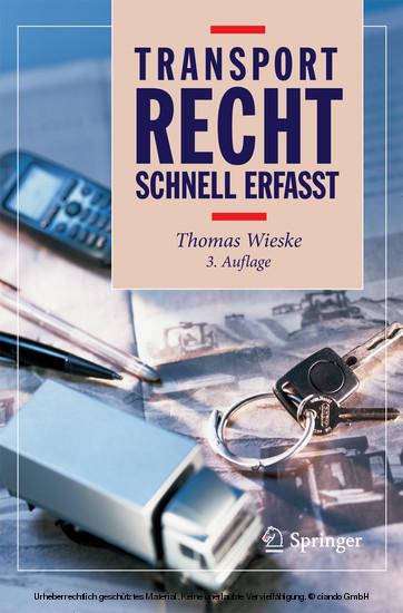 Transportrecht - Schnell erfasst - Blick ins Buch