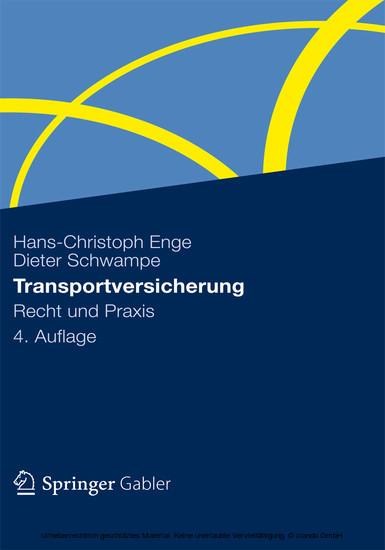 Transportversicherung - Blick ins Buch