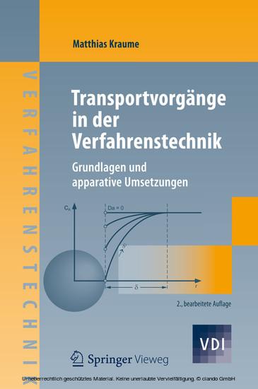 Transportvorgänge in der Verfahrenstechnik - Blick ins Buch