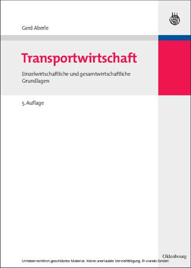 Transportwirtschaft - Blick ins Buch
