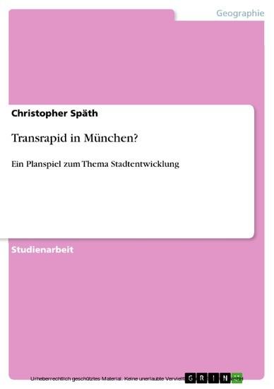 Transrapid in München? - Blick ins Buch