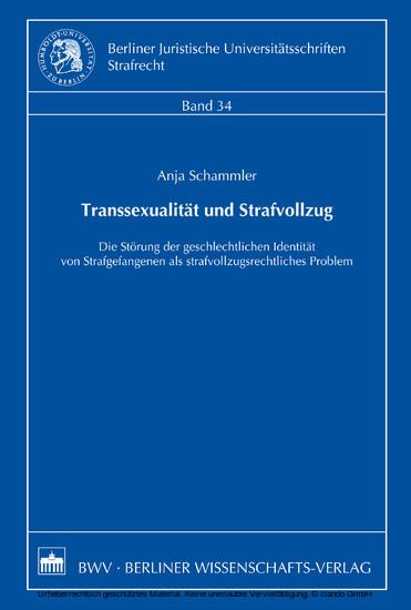 Transsexualität und Strafvollzug - Blick ins Buch