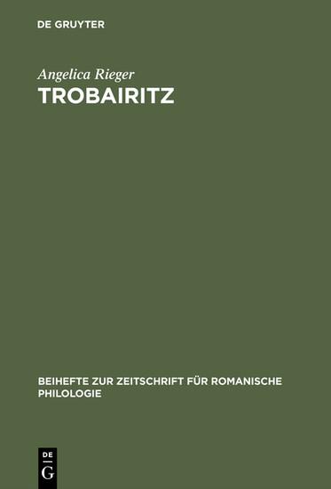 Trobairitz - Blick ins Buch