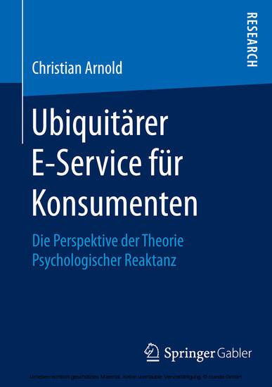Ubiquitärer E-Service für Konsumenten - Blick ins Buch