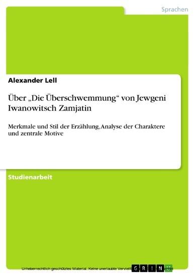 Über 'Die Überschwemmung' von Jewgeni Iwanowitsch Zamjatin - Blick ins Buch