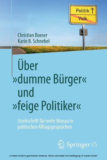 Über 'dumme Bürger' und 'feige Politiker' - Blick ins Buch