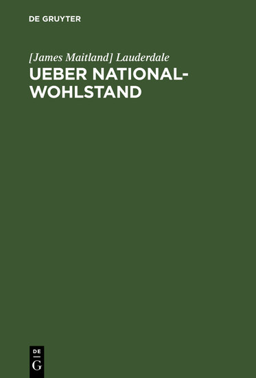 Ueber National-Wohlstand - Blick ins Buch