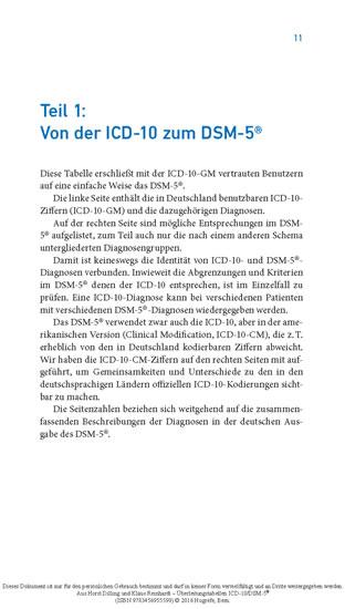Überleitungstabellen ICD-10/DSM-5® - Blick ins Buch