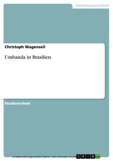 Umbanda in Brasilien - Blick ins Buch