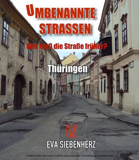 Umbenannte Straßen in Thüringen - Blick ins Buch