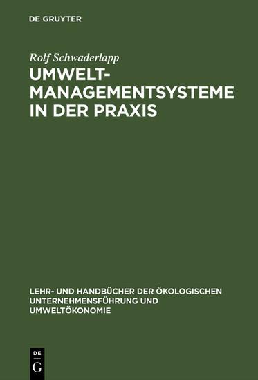 Umweltmanagementsysteme in der Praxis - Blick ins Buch