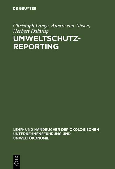 Umweltschutz-Reporting - Blick ins Buch