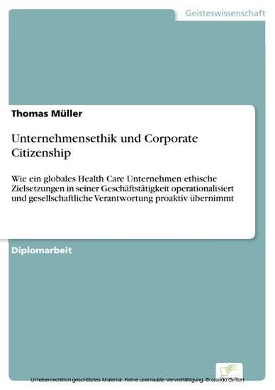 Unternehmensethik und Corporate Citizenship - Blick ins Buch