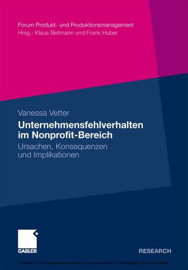 Unternehmensfehlverhalten im Nonprofit-Bereich - Blick ins Buch
