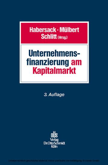 Unternehmensfinanzierung am Kapitalmarkt - Blick ins Buch