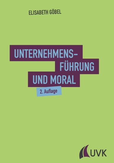 Unternehmensführung und Moral - Blick ins Buch