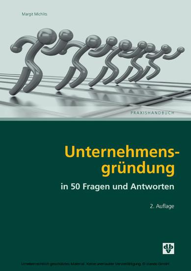 Unternehmensgründung in 50 Fragen und Antworten - Blick ins Buch