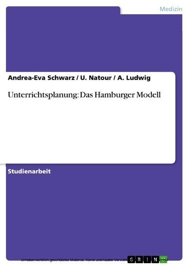 Unterrichtsplanung: Das Hamburger Modell - Blick ins Buch