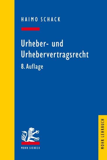 Urheber- und Urhebervertragsrecht - Blick ins Buch