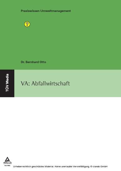 VA: Abfallwirtschaft - Blick ins Buch