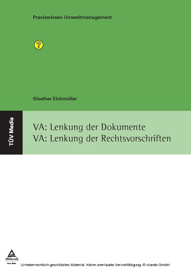 VA: Lenkung der Dokumente VA: Lenkung der Rechtsvorschriften - Blick ins Buch