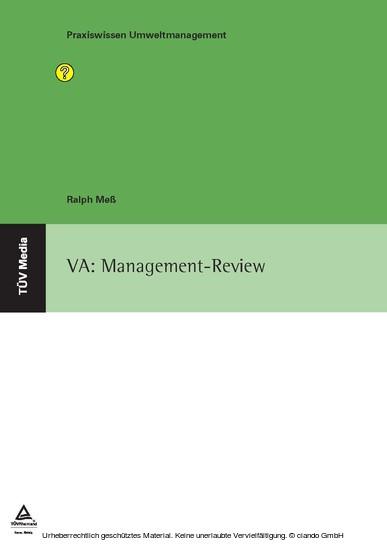 VA: Management-Review - Blick ins Buch