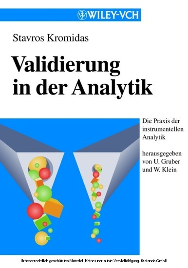 Validierung in der Analytik - Blick ins Buch