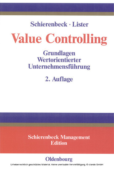 Value Controlling - Blick ins Buch